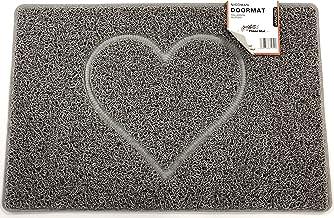 Heart Embossed Shape Door Mat Dirt-Trapper Washable Barrier Doormat-(Use Indoor or Sheltered Outdoor)-(75x44cm/29.5x17.3in...