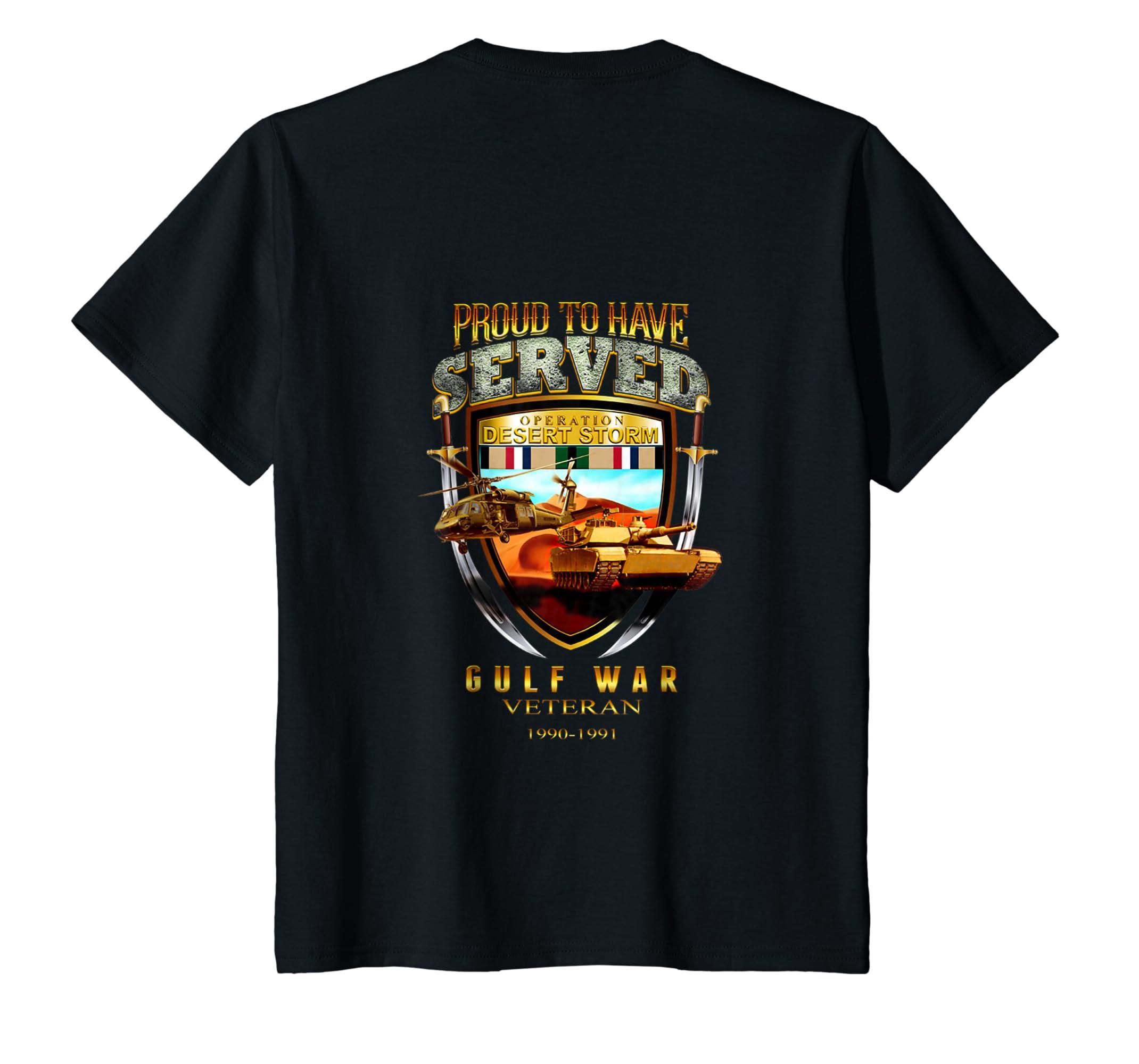 Desert Storm Gulf War Veteran 1990 1991 Tshirt