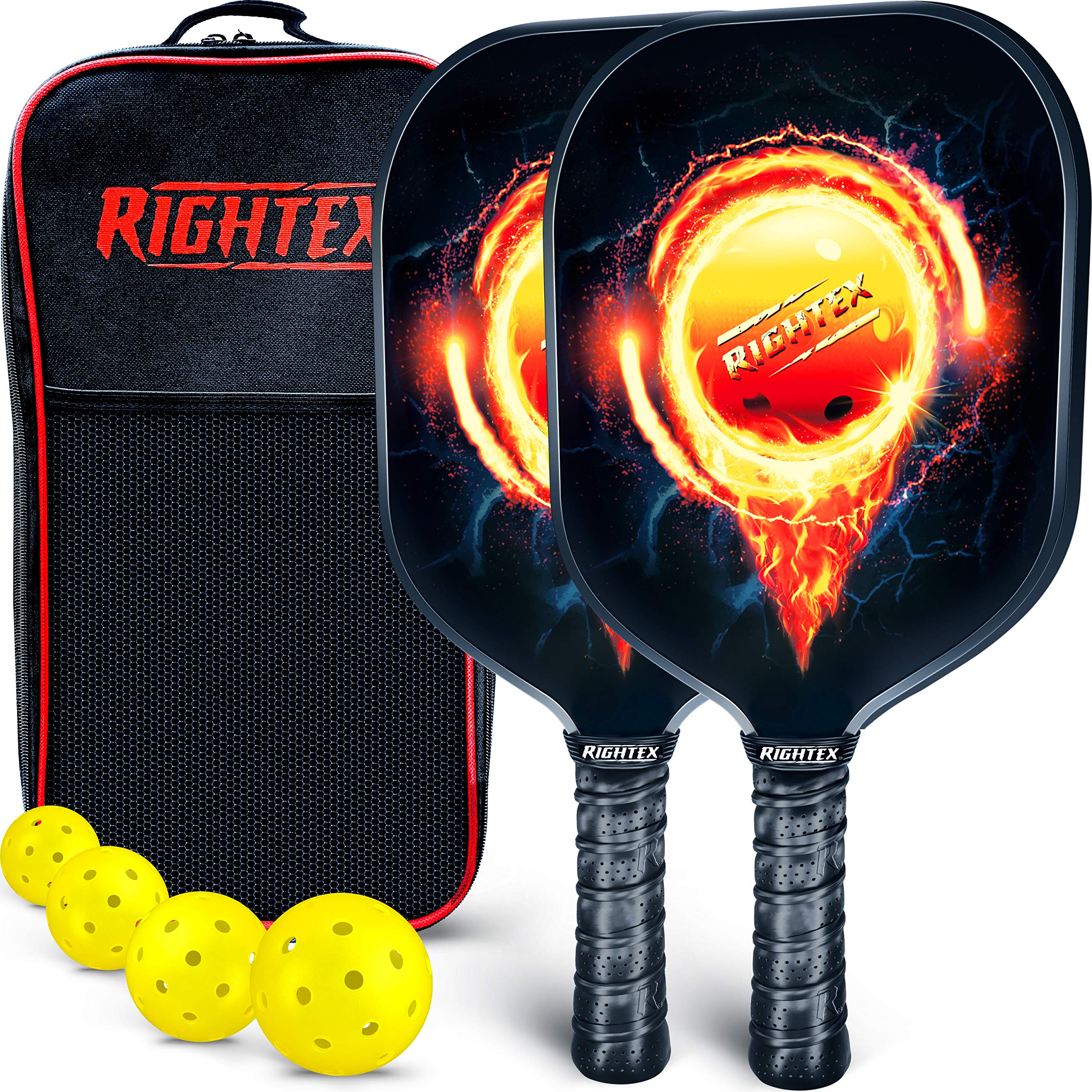 Cushion Grip Iconic Paddles Pickleball Paddle/ Protective Neoprene Cover Multiple Color Options /Graphite Face with Polypropylene Honeycomb Composite Core
