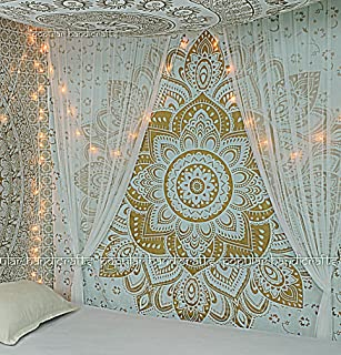 New Launched Popular Handicrafts Kp643 The Passion Gold Ombre Tapestry Indian Mandala Wall Art, Hippie Wall Hanging, Bohemian Bedspread 84