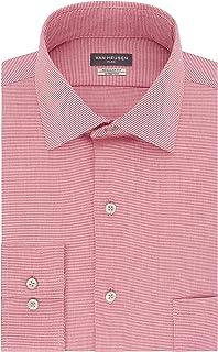 Van Heusen Men`s Dress Shirt Regular Fit Flex Collar Stretch Check