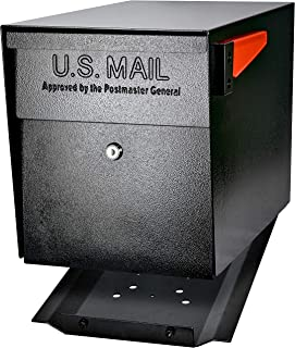 Mail Boss 7106 Curbside Security Locking Mailbox, Black, M