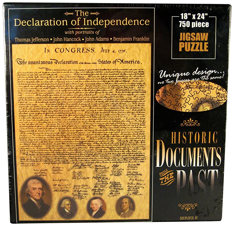 American Documents The Declaration of Independence Jigsaw Puzzle, 750-Piece