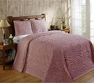 Better Trends Trevor Chenille 3-Piece Bedspread Set by Natural 3 Piece Full