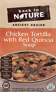 Back to Nature Soup, Gluten Free Chicken Tortilla with Red Quinoa, 17.4 Ounce (Pack of 6)