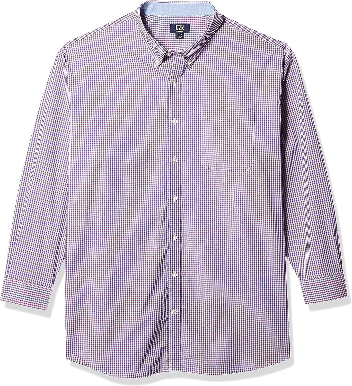 Cutter & Buck Men's Big-Tall Long Sleeve Beacon Rock Gingham Shirt