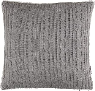 Brielle Cozy Cable Knit Throw Pillow with Sherpa Backing, 18