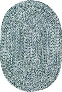 2' x 3' Oval Made-to-Order Oscar Isberian Rugs Accent Rug Blue Color Hand Braided USA
