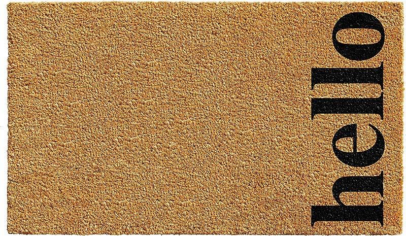 Calloway Mills 102612436NBB Vertical Hello Doormat 24 X 36 Natural Black