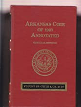 arkansas code of 1987 annotated official edition