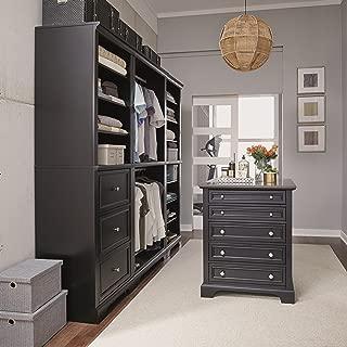 Bedford Black 4 Piece Closet/Storage System Organizer by Home Styles