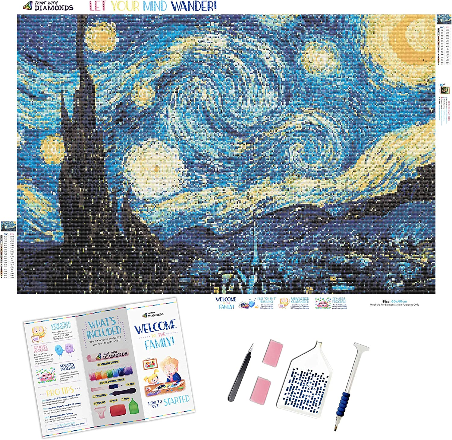 Diamond Ranking TOP20 Painting Kits for Adults Max 72% OFF by Paint 60x40 With Diamonds XL
