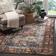 Safavieh Bijar Collection BIJ621C Traditional Oriental Vintage Brown and Royal Blue Area Rug (8' x 10')