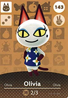 Nintendo Animal Crossing Happy Home Designer Amiibo Card Olivia 143/200 USA Version