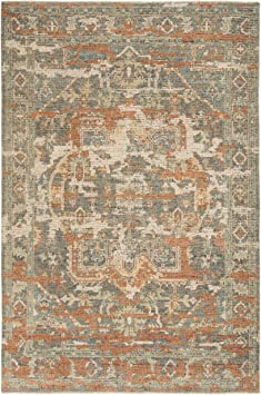 Safavieh Izmir Collection Izm101p Hand Knotted Traditional Premium New Zealand Wool Area Rug 8 X 10 Rust Taupe Furniture Decor