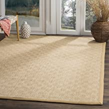 Safavieh Natural Fiber Collection NF151B Natural and Beige Area Rug, 8' x 10'