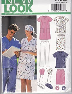 New Look 6777A Sewing Pattern Misses /Mens Scrubs Size S-XL