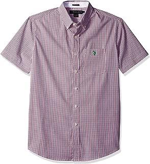 Men's Short Sleeve Classic Fit Plaid Shirt