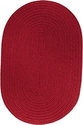 Solid Rug, 4 by 6-feet, Brilliant Red