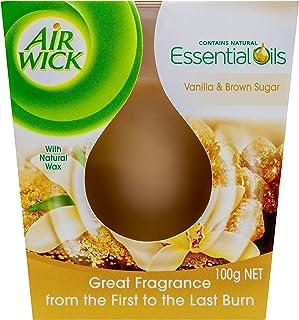 Airwick Essential Oils Candle Vanilla & Brown Sugar, 32g