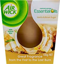 Airwick Essential Oils Candle Vanilla & Brown Sugar, 32g