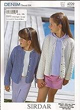 Sirdar Denim Tweed DK Knitting Pattern 4229 Cardigans Children 1yr-12yrs