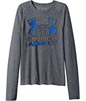 Under Armour Kids Hybrid Big Logo Long Sleeve Tee (Big Kids)