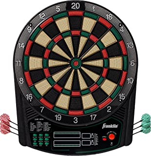 Franklin Sports Electronic Dartboard Set - Digital Dartboard with Scoreboard - Official Size 15.5