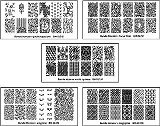 Maniology (formerly bundle monster) 5pc Blogger Collaboration Nail Art Polish Stamping Plates - Set 4