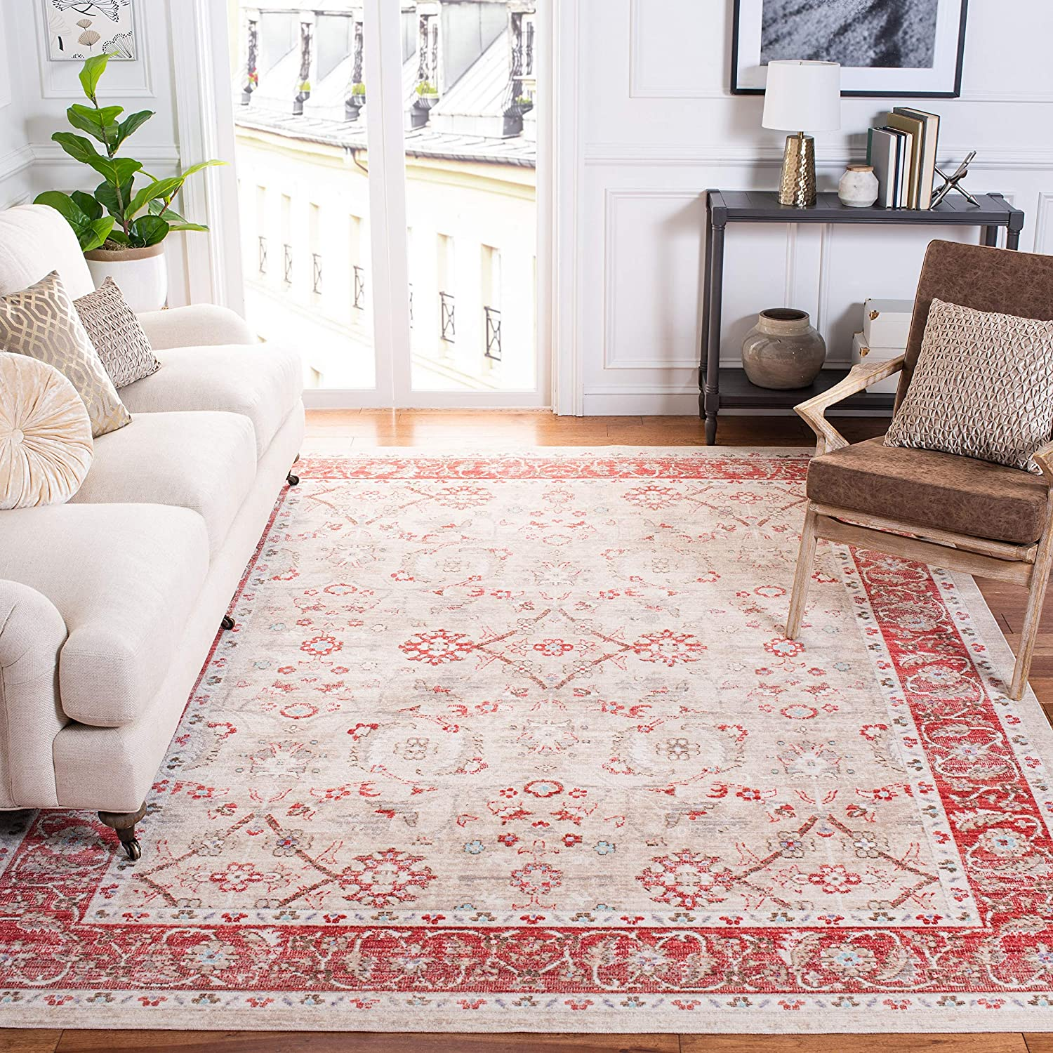 Safavieh Courier shipping free Windsor Collection WDS345N Boho Regular store Distressed Shabby Chic