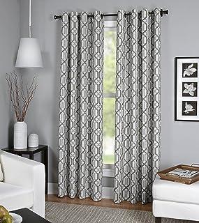 "Elrene Home Fashions 26865820478 Grommet Top Linen Look Single Panel Window Curtain Drape, 52"" x 84"", Gray"