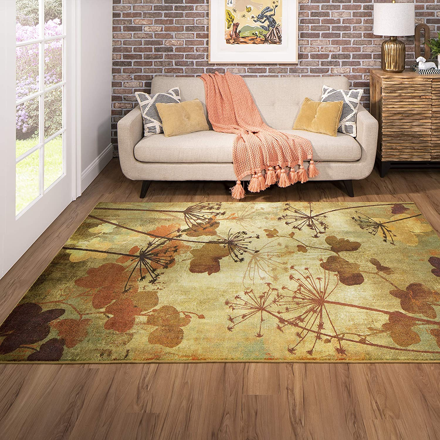 Mohawk Home Rust Autumn Max 70% OFF Max 83% OFF Branches Rug 6'x9' Area
