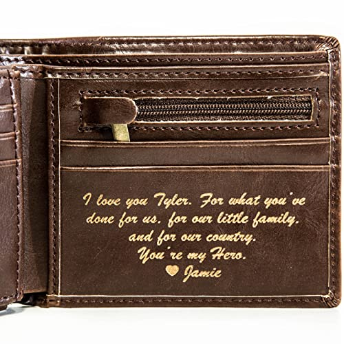 Personalized Mens Wallet - Leather Wallet, The Perfect Mens Gift, Boyfriend Gift, Father's