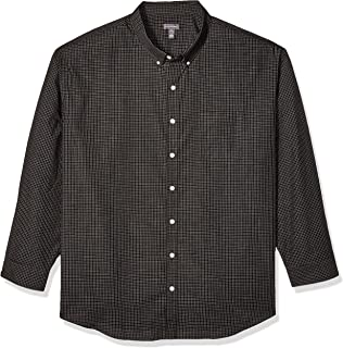 Van Heusen Men's Big and Tall Wrinkle Free Poplin Long Sleeve Button Down Shirt