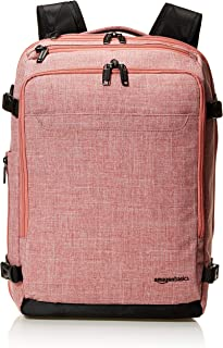 AmazonBasics Slim Carry On Backpack Weekender, Pink