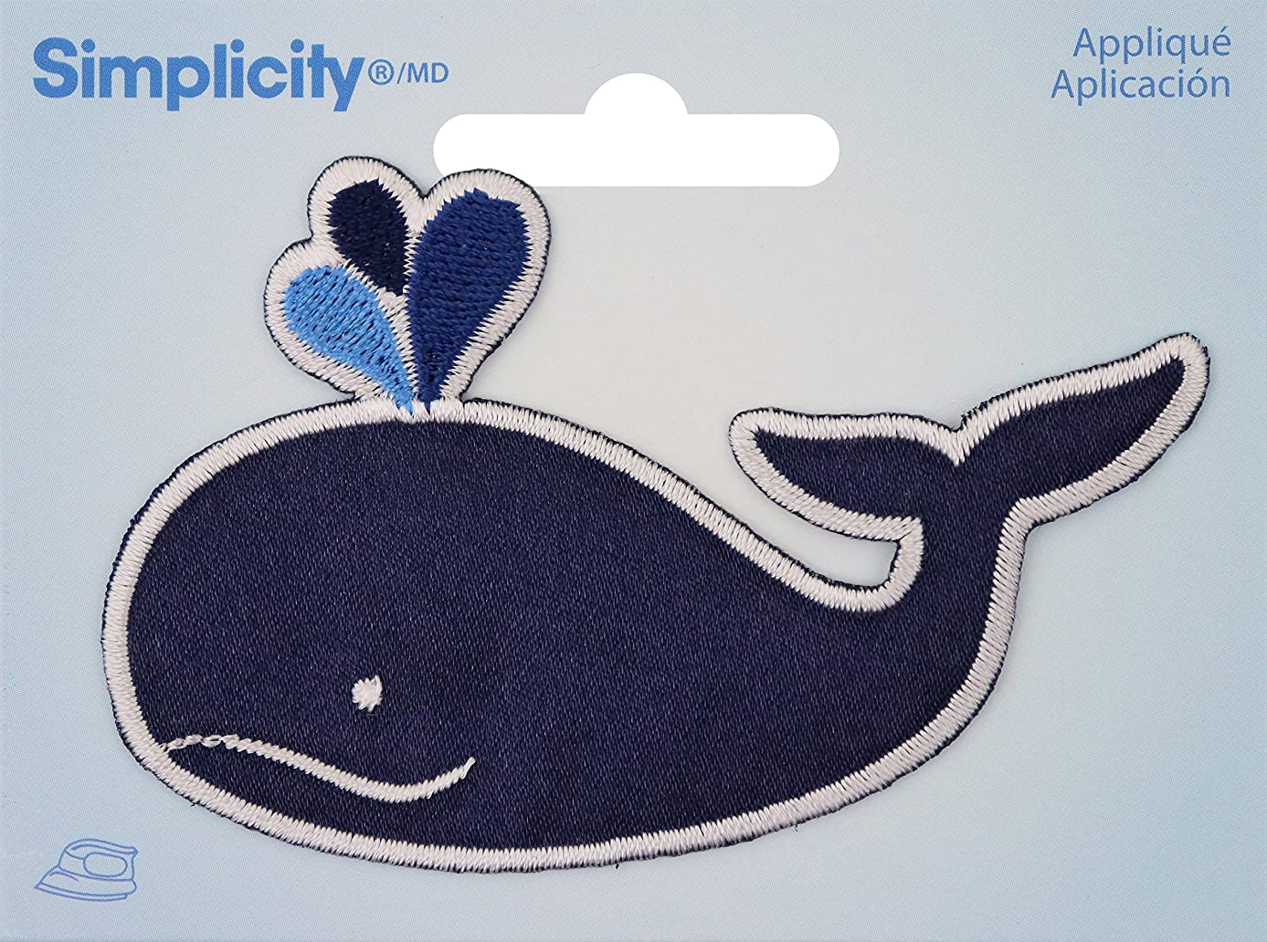 Wrights Whale Iron-On Applique