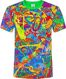 Elephant Fantasy Blacklight Fluorescent T Shirt