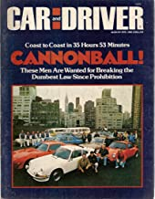 Car and Driver Magazine August 1975 Cannonball!