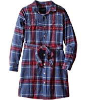 Toobydoo - Skylar Flannel Shirtdress (Toddler/Little Kids/Big Kids)