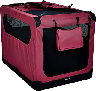Amazon Basics Premium Folding Portable Soft Pet Dog Crate Carrier Kennel - 42 x 31 x 31 Inches, Red
