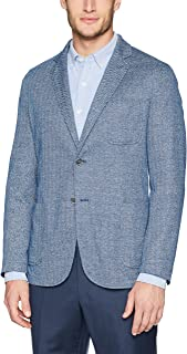 Bugatchi Men's Single Breasted Unconstructed Navy Blazer
