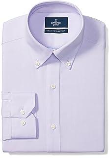 Marchio Amazon - Buttoned Down - Tailored Fit Button Collar Solid Non-iron Dress Shirt, Camicia Uomo
