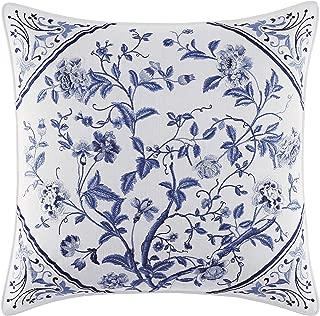 Laura Ashley Charlotte 16-inch Decorative Pillow, 16 inch, Blue