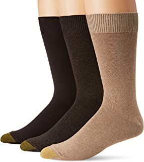 Gold Toe Men's 3-Pack Micro Flat Knit Crew Socks