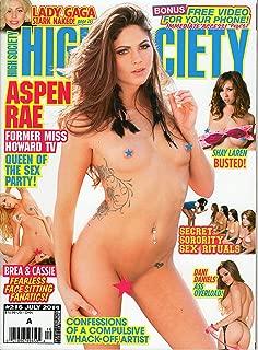 HIGH SOCIETY #216 JULY 2014 NEW NO DVD; ASPEN RAE DANI DANIELS