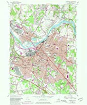 YellowMaps Schenectady NY topo map, 1:24000 Scale, 7.5 X 7.5 Minute, Historical, 1954, Updated 1981, 26.9 x 22 in