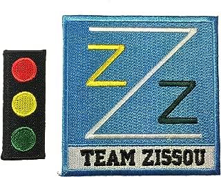 Men's Back Life Aquatic Team Zissou Logo Ballcap Costume Patch (Set of two)