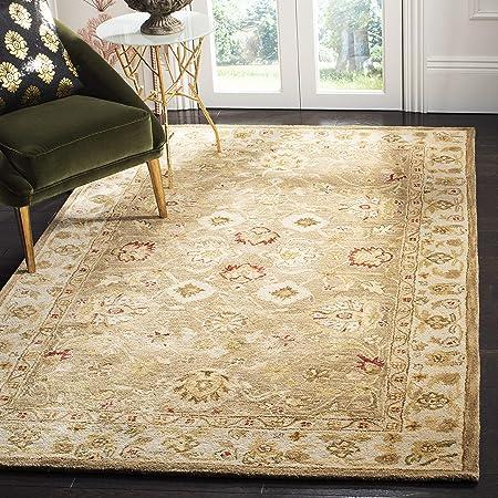 Safavieh Antiquity Collection At822b Handmade Traditional Oriental Premium Wool Area Rug 8 X 10 Brown Beige Furniture Decor