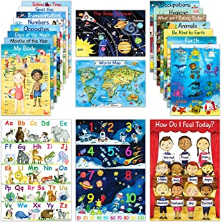 20 Educational Posters for Preschool Learning | Kindergarten Homeschool & Teacher Supplies | Classroom Decor Posters for E...