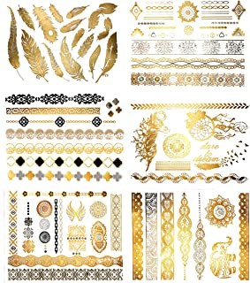 Best gold removable tattoos Reviews
